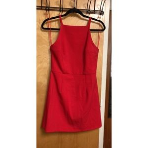 Red French Connection semi formal dress // size 4